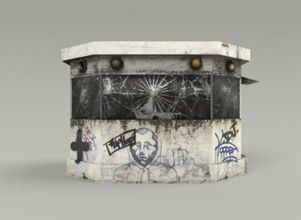 graffiti kiosk 3D model