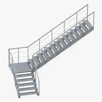 Industrial Staircase L-Shape