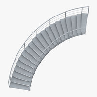 industrial staircases curved 3D model