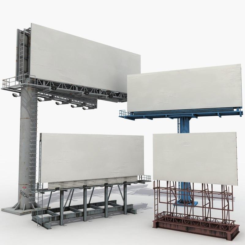 3D street billboards