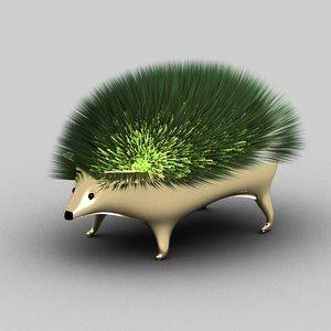 3D decorative hedgehog model