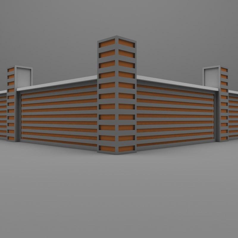 garden wall 3D model