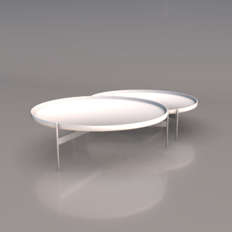 modern coffee cocktail tables 3D
