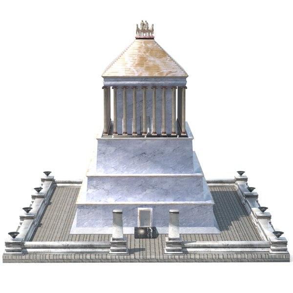 3D mausoleum halicarnassus model
