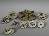 pump impellers 3D model