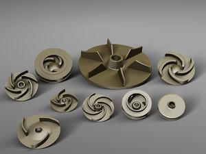 pump impellers 3D model