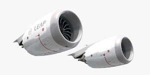3D cfm leap-1b jet engine