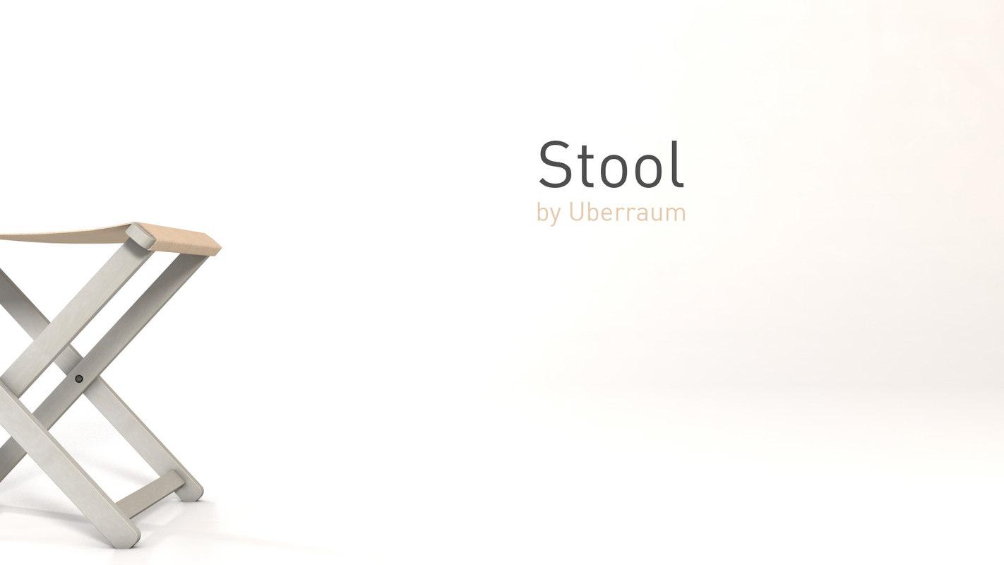 stool fabric 3D model
