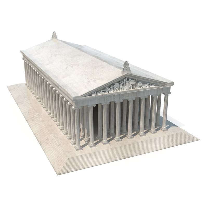 3D temple artemis