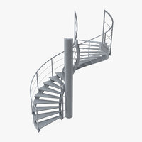 industrial staircase spiral model