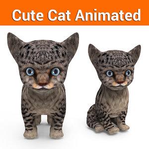 3D cute cat animation