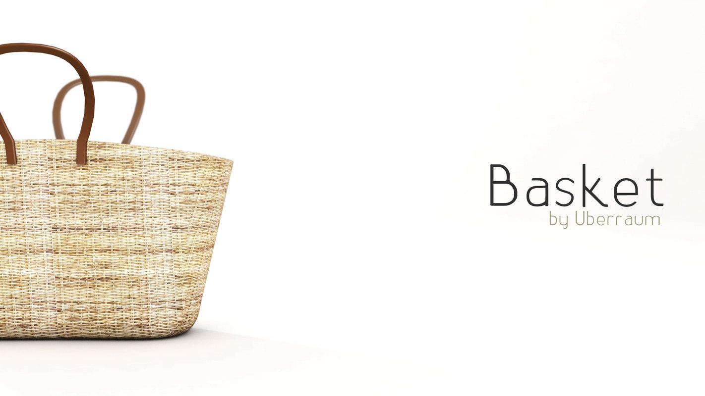 basket modelled 3D