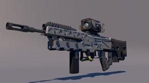p-06 duty black ops 3D model