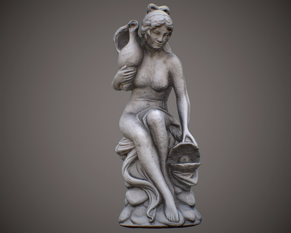 3D scanned water fountain statue