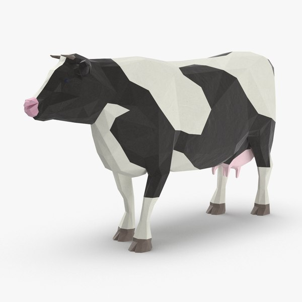 3D cow---standing