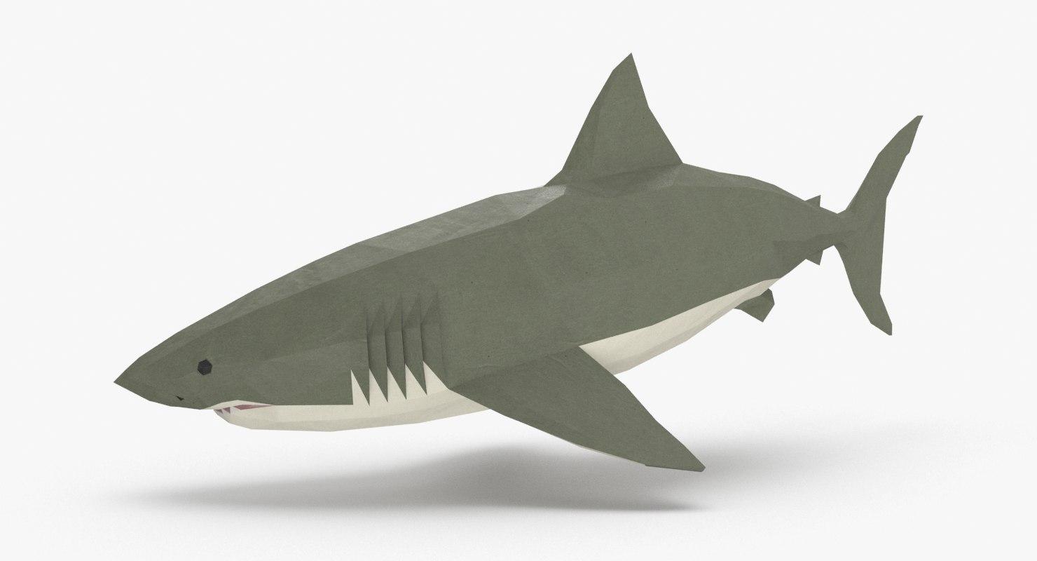 3D model shark---downward