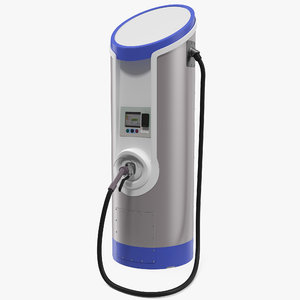 commercial electric vehicle charger 3D model