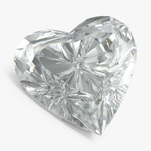 3D heart diamond model