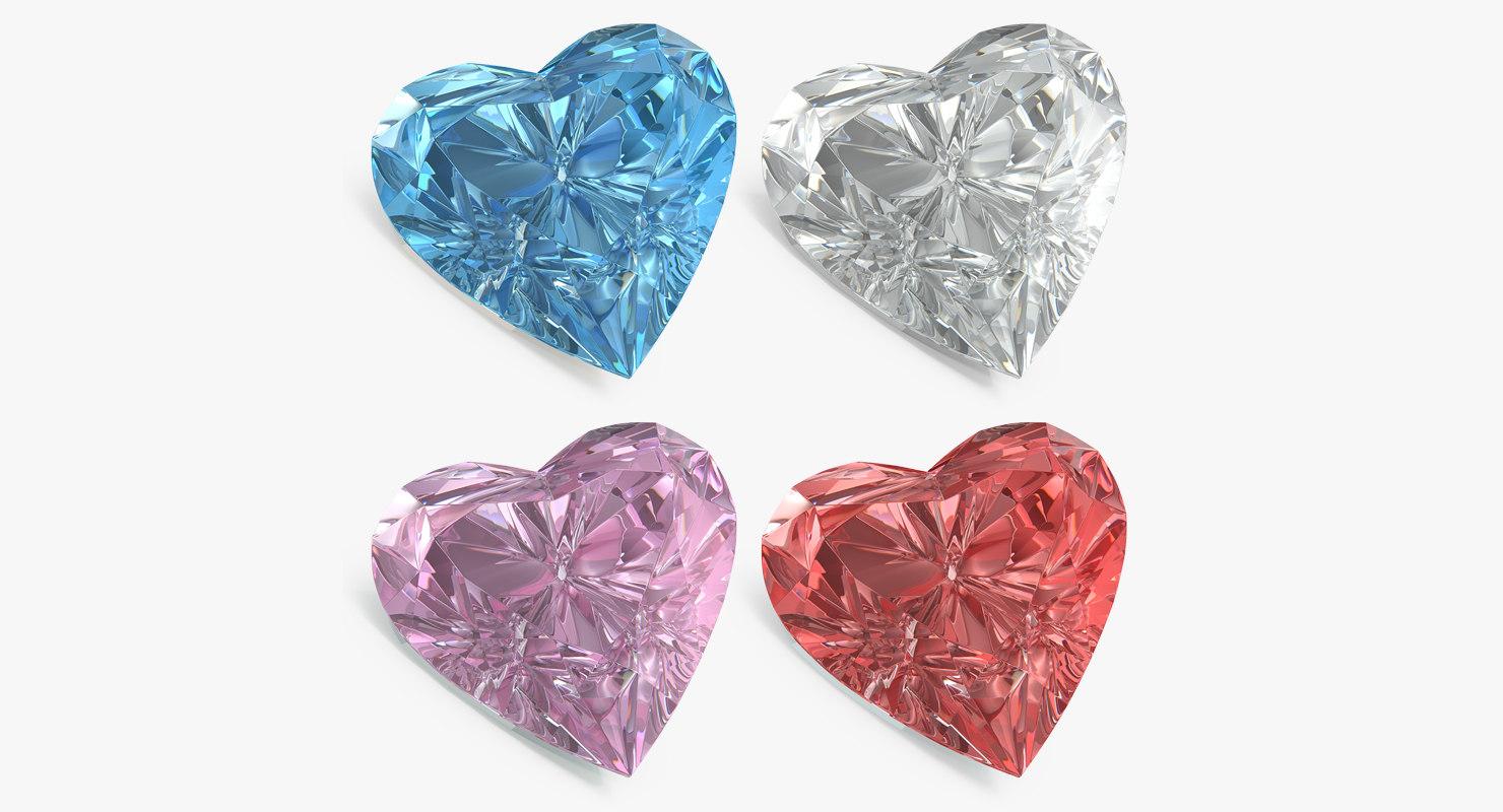 diamond hearts set model