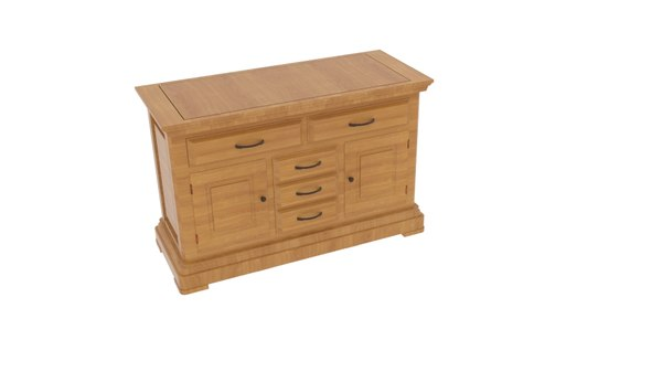 canterbury natural solid oak 3D model