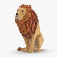 lion---sitting 3D