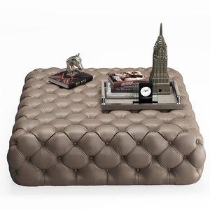 3D casamilano hyatt ottoman model