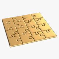golden puzzle 3D model