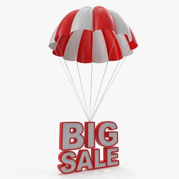 parachute discount sign 3D
