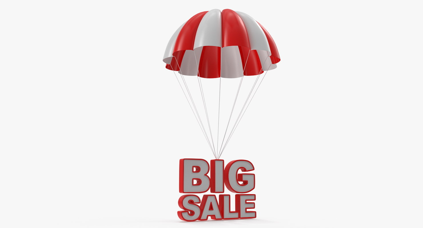 parachute discount sign 3D