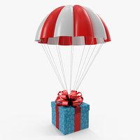 parachute gift box 3D model