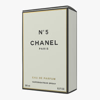 parfum box chanel 5 3D model