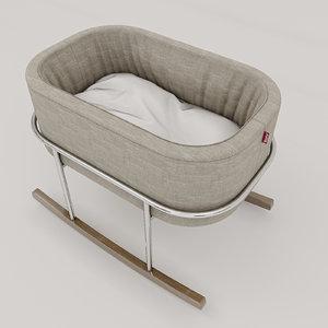 3D rockwell bassinet monte model
