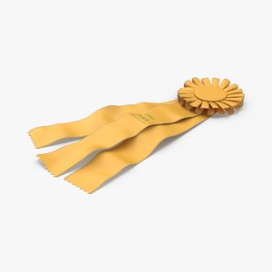prize-ribbon-01---yellow-flat model