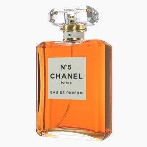 3D model parfum chanel 5