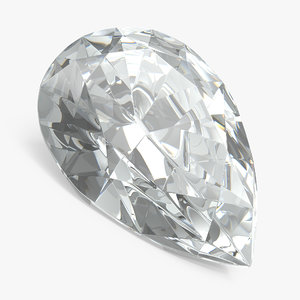pear shape diamond 3D model