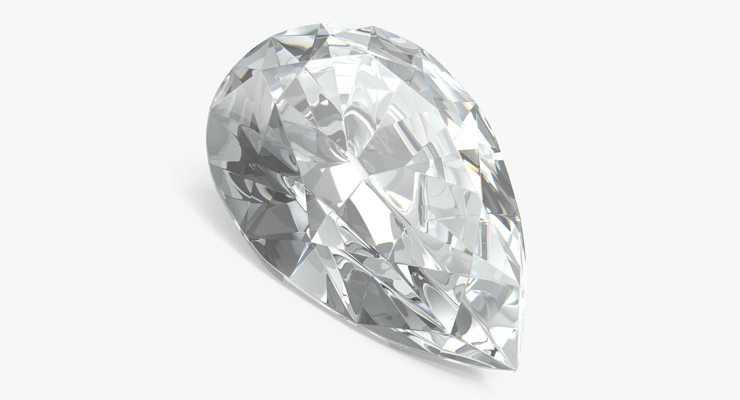 pear shape diamond 3D model