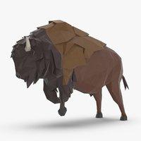 buffalo----charging 3D model