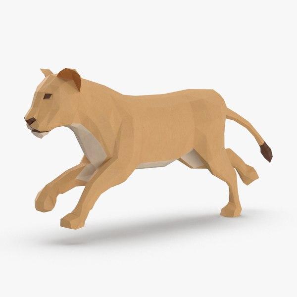 lioness----running 3D
