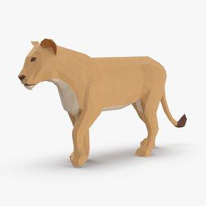 lioness----walking 3D model