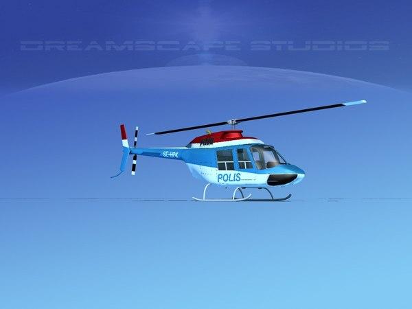 3D rotor bell 206 model