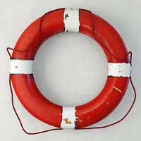 1950s red white nautical model
