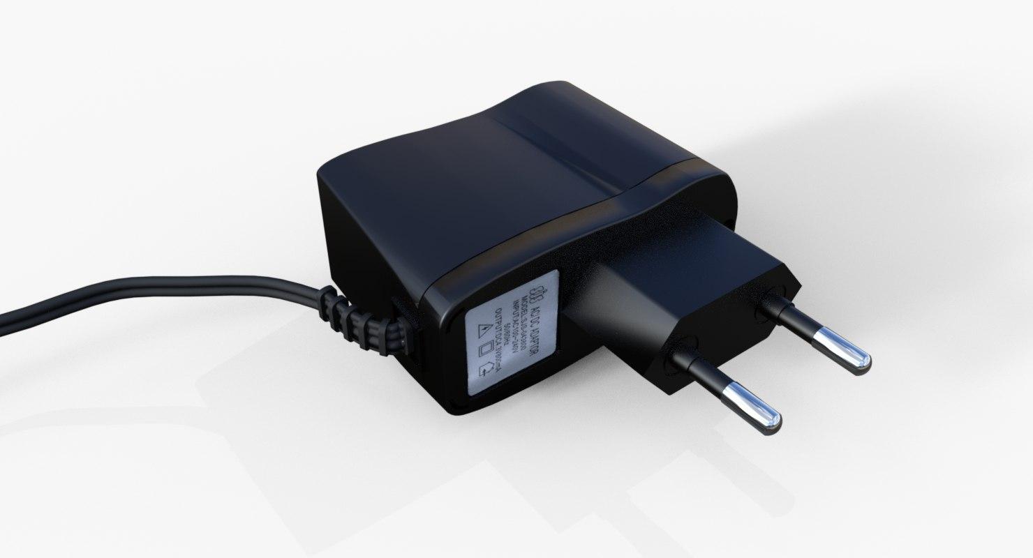 3D model ac dc adapter