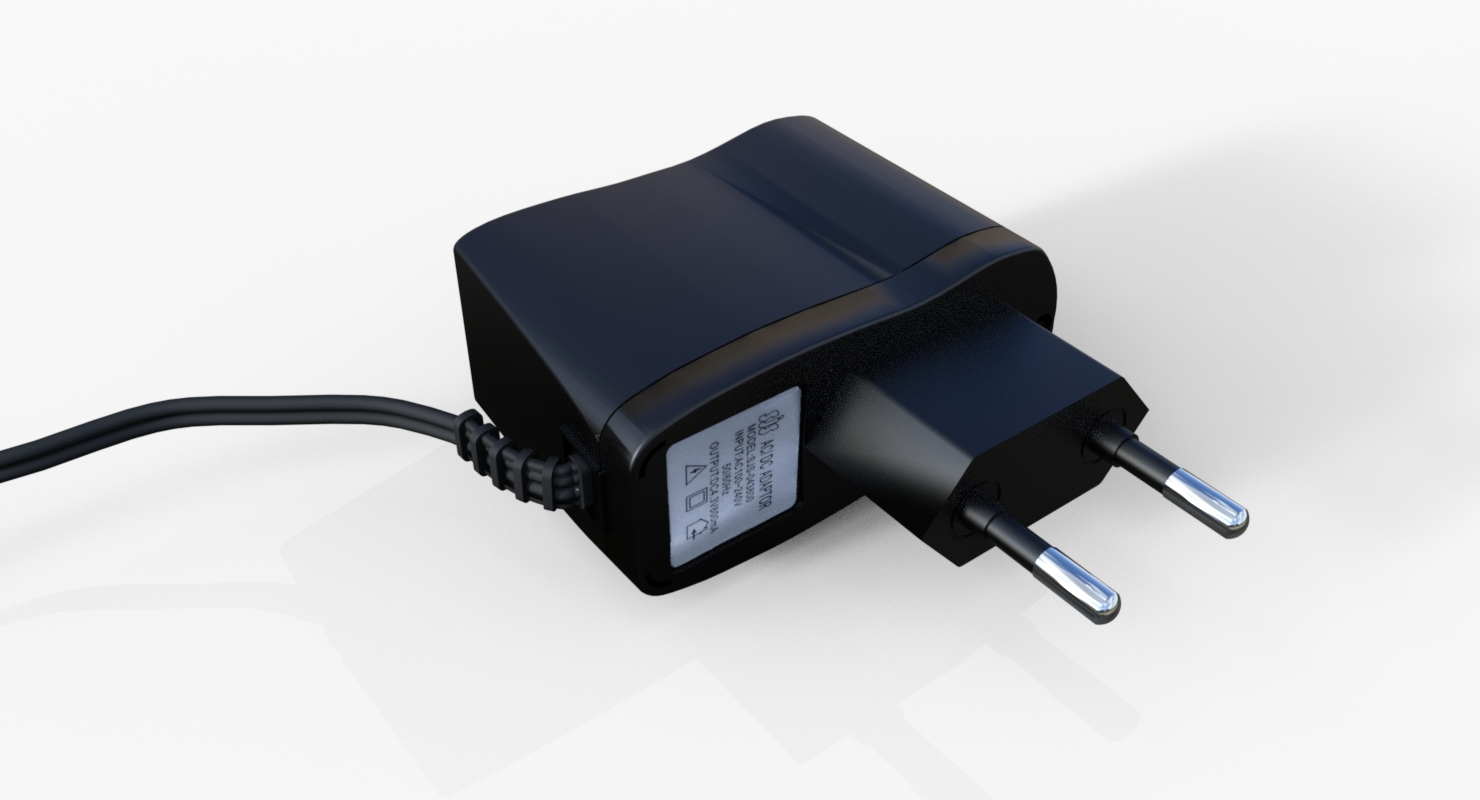 3D model ac dc adapter