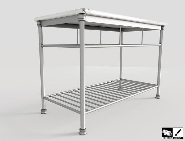 everett kitchen island 3D model