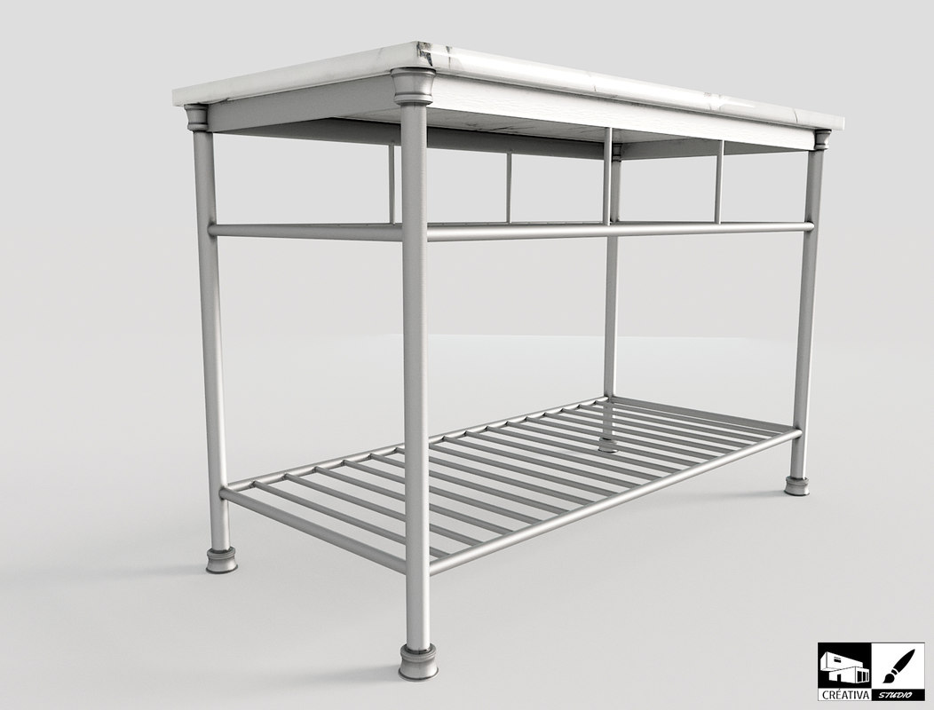 everett kitchen island 3D model