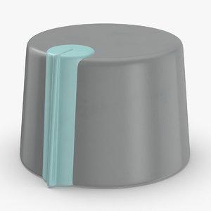 3D knobs-set-03---06 model