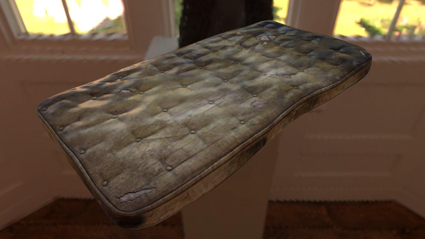 worn mattress 3D model