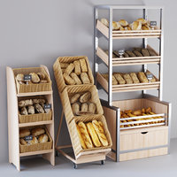 3D bread display racks
