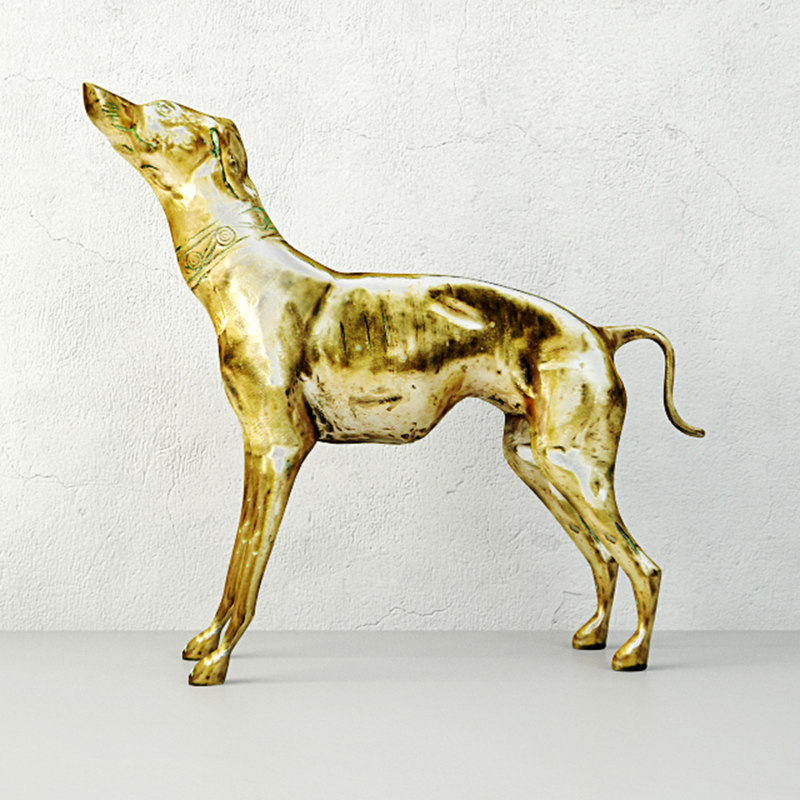 large brass greyhound model