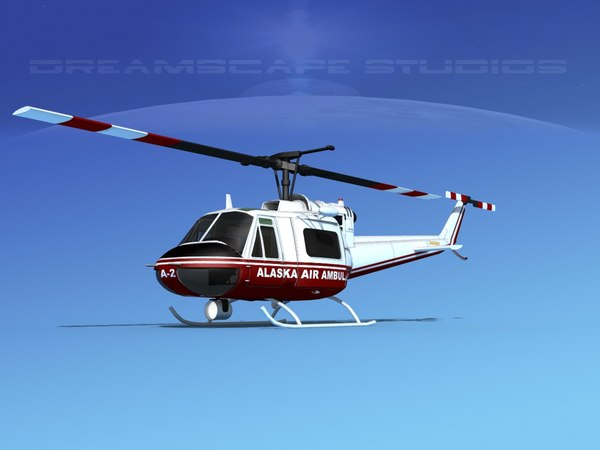 3D bell air ambulance model